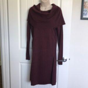 ATHLETA gorgeous cotton/wool sweater dress. NWOT